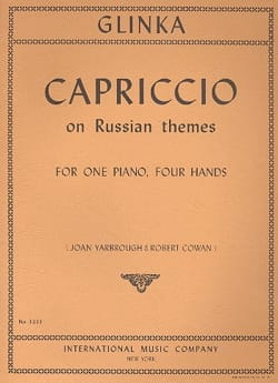 Mikhail Glinka - Capriccio On Russian Themes. 4 Mains - Partition - di-arezzo.fr