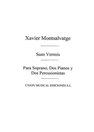 Xavier Montsalvatge - Sum Vermis. Archive - Partition - di-arezzo.fr