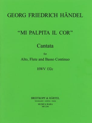 HAENDEL - Mi Palpita he Cor HWV 132c - Sheet Music - di-arezzo.com