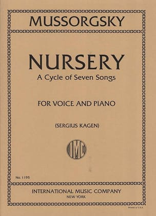 Modest Moussorgsky - Nursery. Voix Moyenne - Partition - di-arezzo.fr