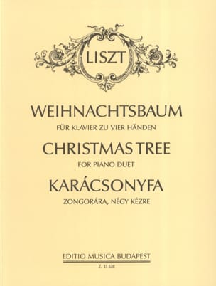 Weihnachtsbaum. 4 Mains Franz Liszt Partition Piano - laflutedepan
