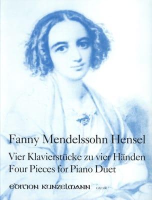 4 Pièces. 4 Mains Fanny Hensel-Mendelssohn Partition laflutedepan
