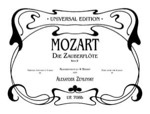 MOZART - Die Zauberflöte Volume 2. 4 Mains - Partition - di-arezzo.fr