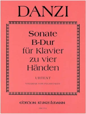 Sonate En Si Bémol Majeur. 4 Mains - Danzi - laflutedepan.com