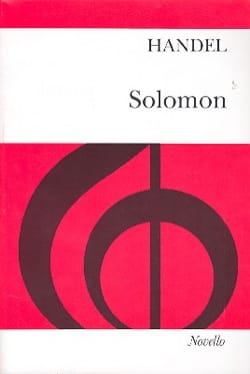 Solomon - Georg-Friedrich Haendel - Partition - laflutedepan.com