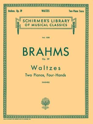 BRAHMS - Walzes Op. 39. 2 Pianos - Partition - di-arezzo.fr