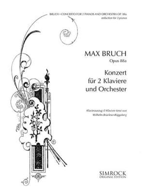 Max Bruch - Concerto Pour 2 Pianos Opus 88a. 3 Pianos - Partition - di-arezzo.fr