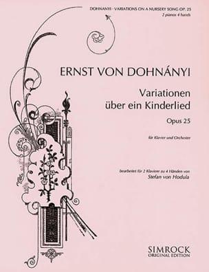 Variationen Uber Ein Kinderlied Opus 25. 2 Pianos - laflutedepan.com