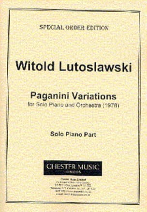 Witold Lutoslawski - パガニーニのバリエーション - 楽譜 - di-arezzo.jp