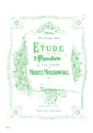 Etude. 2 Pianos - Moritz Moszkowski - Partition - laflutedepan.com