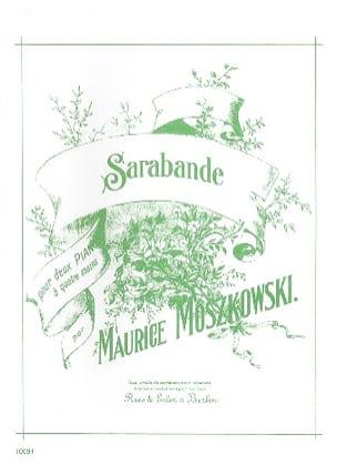 Sarabande. 2 Pianos Moritz Moszkowski Partition Piano - laflutedepan