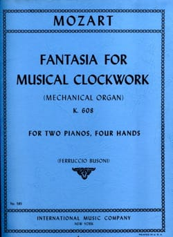 Fantasia For Musical Clockwork K 608. 2 Pianos - laflutedepan.com