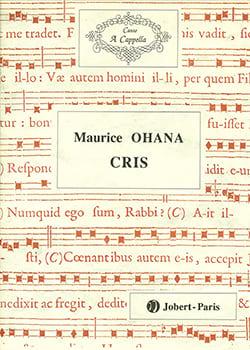 Maurice Ohana - shouting - Partition - di-arezzo.com