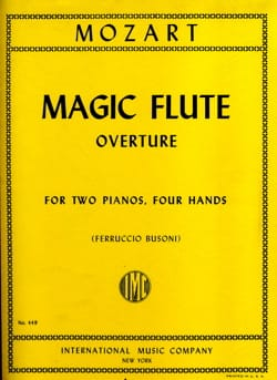 MOZART - Magic Flute Overture. 2 Pianos - Partition - di-arezzo.fr
