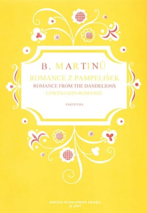 Romance From The Dandelions MARTINU Partition Chœur - laflutedepan