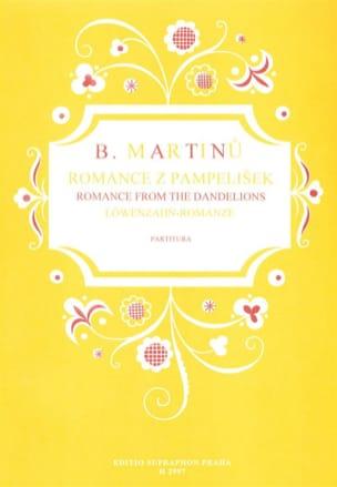 Romance From The Dandelions Bohuslav Martinu Partition laflutedepan