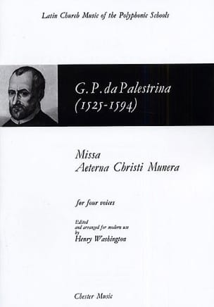 Giovanni Pierluigi Palestrina - Missa Aeterna Christi Munera - Sheet Music - di-arezzo.co.uk