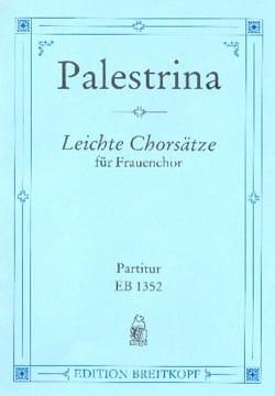 Leichte Chorsäzte Giovanni Pierluigi da Palestrina laflutedepan