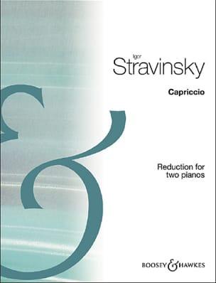 Capriccio. 2 pianos Igor Stravinski Partition Piano - laflutedepan