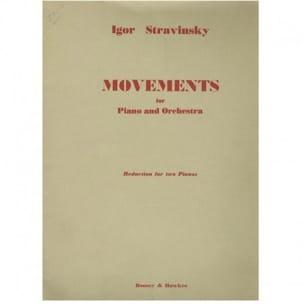 Igor Stravinski - Movements. 2 Pianos - Partition - di-arezzo.fr