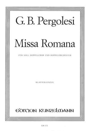 Missa Romana Giovanni Battista Pergolese Partition laflutedepan