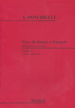 Amilcar Ponchielli - Voce Di O Donna D'angelo. la Gioconda - Partitura - di-arezzo.it