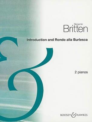 Benjamin Britten - Introduction And Rondo Alla Burlesca Opus 23-1. 2 Pianos - Partition - di-arezzo.fr