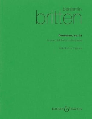 Diversions - BRITTEN - Partition - Piano - laflutedepan.com