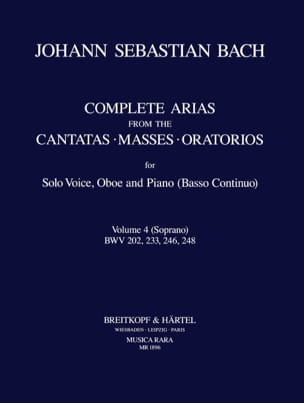 Complete arias from the cantatas, masses, oratorios Volume 4 laflutedepan