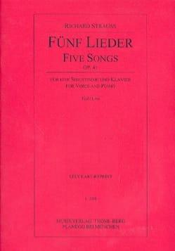 5 Lieder Op. 41. Voix Grave Richard Strauss Partition laflutedepan