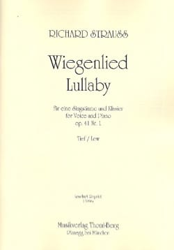 Wiegenlied Opus 41-1. Voix Grave - Richard Strauss - laflutedepan.com