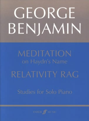George Benjamin - Meditation & Relativity Rag - Partition - di-arezzo.fr
