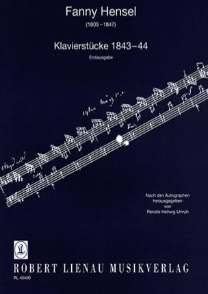 Klavierstücke 1843-44 - Fanny Hensel - Partition - laflutedepan.com