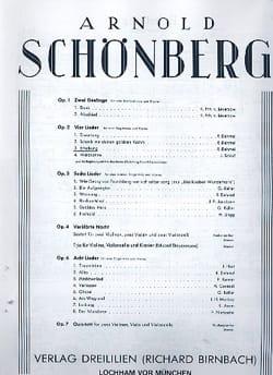 Erhebung Opus 2-3 Arnold Schoenberg Partition Mélodies - laflutedepan