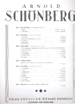 Arnold Schoenberg - Waldsonne Opus 2-4 - Partition - di-arezzo.fr