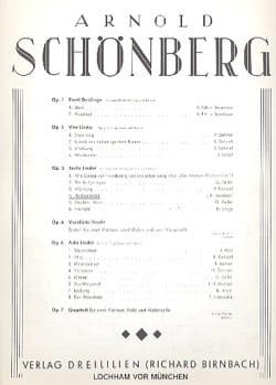 Hochzeitslied Op. 3-4 SCHOENBERG Partition Mélodies - laflutedepan