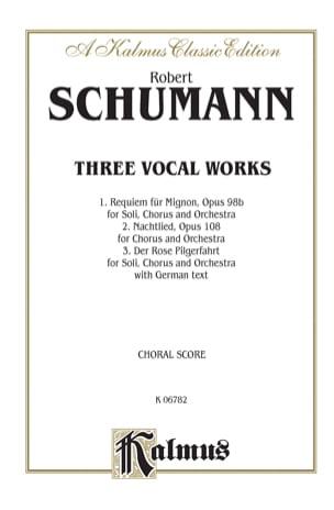 3 Vocal Works SCHUMANN Partition Chœur - laflutedepan