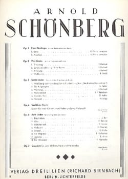 Lochung Op. 6-7 - Arnold Schoenberg - Partition - laflutedepan.com