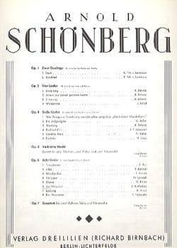 Am Wegrand Op. 6-6 - Arnold Schoenberg - Partition - laflutedepan.com