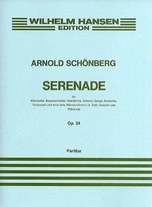 Sérénade Op. 24 - Arnold Schoenberg - Partition - laflutedepan.com
