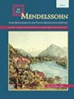 MENDELSSOHN - 24 Songs. Voix Moyenne - Partition - di-arezzo.fr