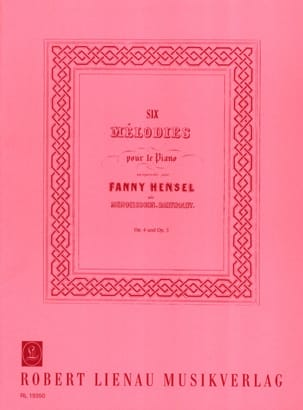 Fanny Hensel-Mendelssohn - 6 Melodies For the Piano Opus 4 and Opus 5 - Sheet Music - di-arezzo.com