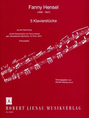 5 Klavierstucke - Fanny Hensel-Mendelssohn - laflutedepan.com