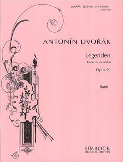 Anton Dvorak - Legenden Opus 59. Vol 1. 4 Mains - Partition - di-arezzo.fr