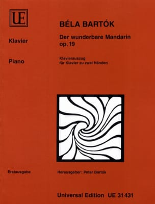 Der Wunderbare Mandarin Opus 19. Piano - laflutedepan.com