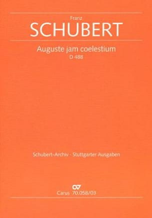 Auguste Jam Coelestium D 488 SCHUBERT Partition Duos - laflutedepan