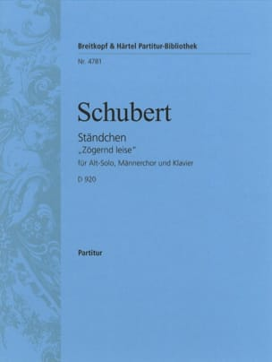 SCHUBERT - Ständchen Opus 135 D 920 - Sheet Music - di-arezzo.co.uk