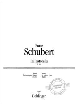 Franz Schubert - La Pastorella D 528 - Partition - di-arezzo.fr