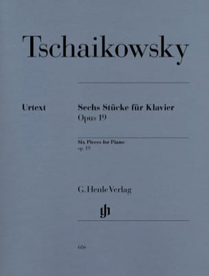 TCHAIKOWSKY - 6 pieces Opus 19 - Sheet Music - di-arezzo.co.uk