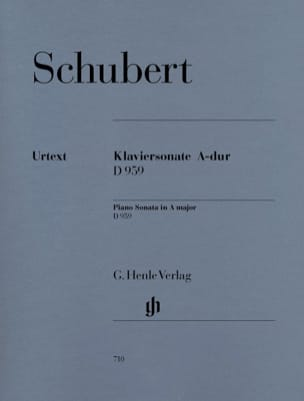 SCHUBERT - Sonata for piano In the Major D 959 - Sheet Music - di-arezzo.co.uk